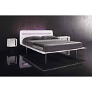 Antenor Satin Plat&ograve; Bed
