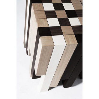 Hangar Design Group Legnoquadro Table - Stool