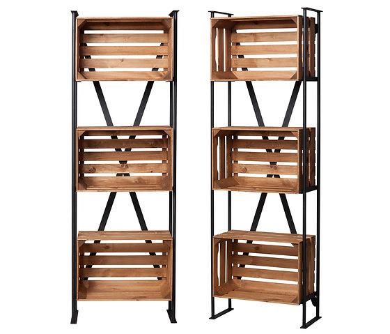 noodles noodles shelf with crates. Black Bedroom Furniture Sets. Home Design Ideas