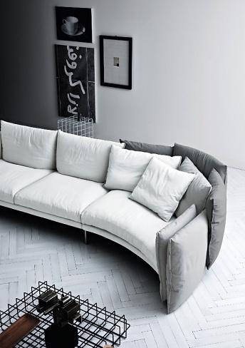 Paolo Grasselli Black Swan Sofa