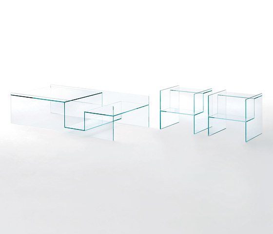Piero Lissoni Labyrinth Low Glass Tables