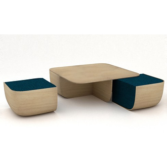 Cappellini Anemos Table and Poufs