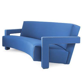 Gerrit T. Rietveld Utrecht Sofa and Armchair