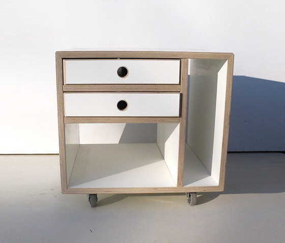 Andreas Janson Roll Over Stool And Shelf