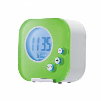 Authentics Cube LCD Alarm Clock