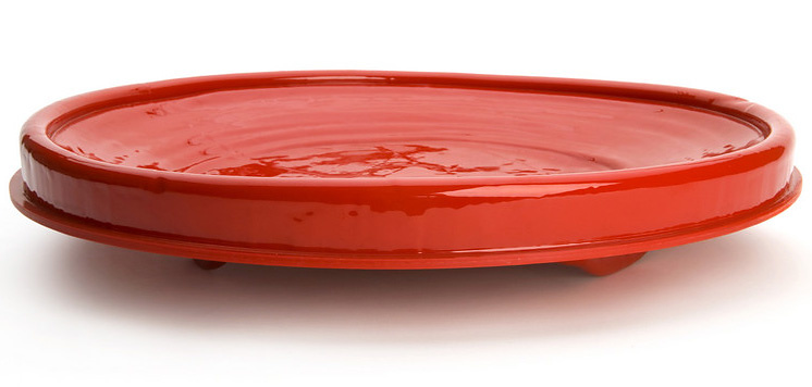 Bas Warmoeskerken Red Plate And Bowl