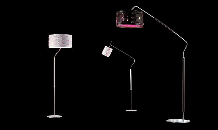 Carlo Zerbaro and Alessandro Trentin Velvet Floor Lamp