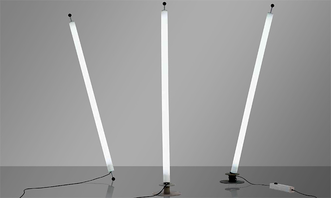 Christian deuber tube floor lamp for Floor lamp with tube light