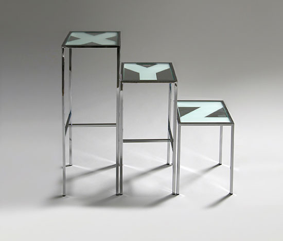 Dante Benini and Luca Gonzo XYZ Tables and Stools