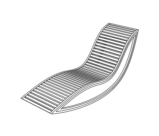 David Trubridge Dondola Sun Lounger
