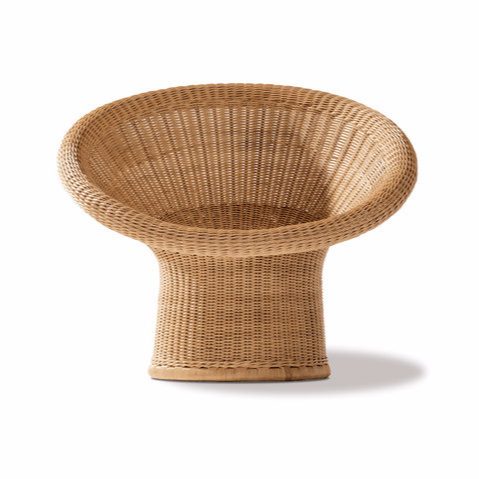 Egon Eiermann E 10 Rattan Lounge Chair