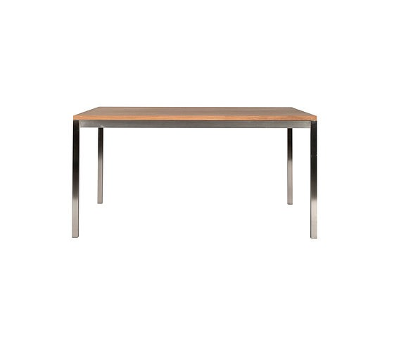 Ethnicraft Oak Basic Stainless Table