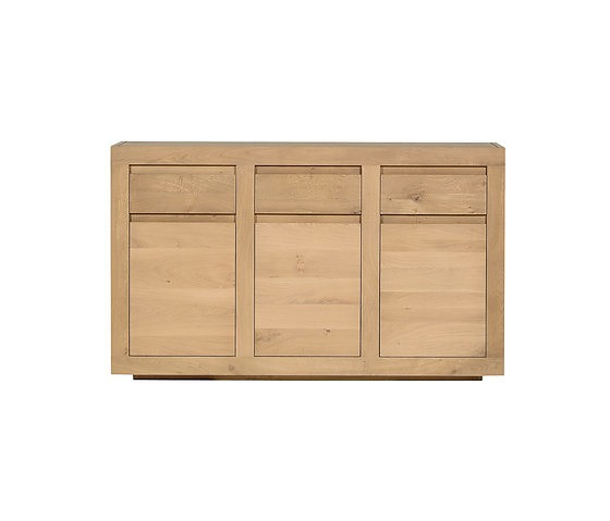 Ethnicraft Oak Flat Sideboard Collection