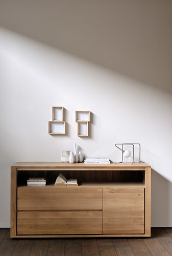 Ethnicraft Oak Shadow Sideboard Collection