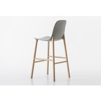 Eva Paster and Michael Geldmacher Sharky Stool With High Backrest