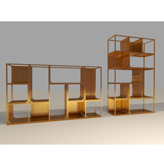 Ferruccio Laviani Copper View Shelf