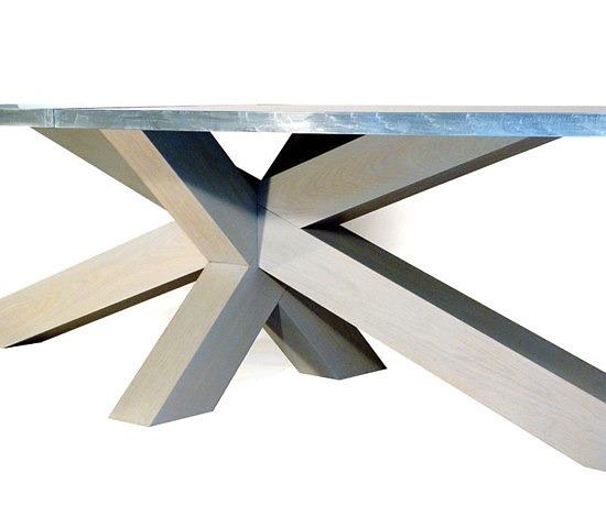 Gerard Der Kinderen Crosstable 4-Beam Zinc Table