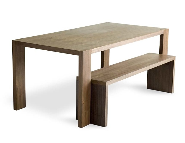 Gus Modern Plank Table Amp Bench