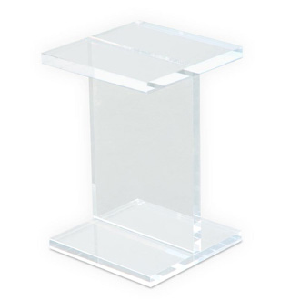 Gus Modern Acrylic I-beam Table
