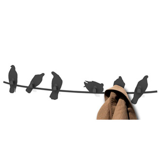 Harry Allen Birds on Wire Coat Rack