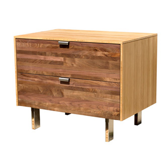 James Sanderson and Michael Iannone Green Mod: Wood Stripe Nightstand