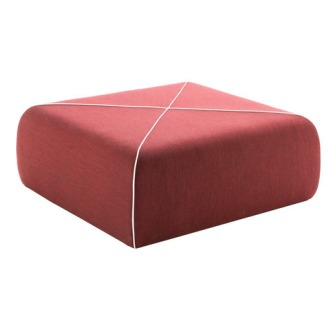 Joe Colombo Crossed Pouf