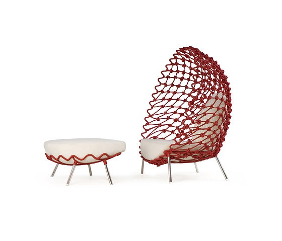Kenneth Cobonpue Dragnet Lounge Chair With Ottoman