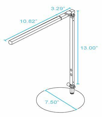 Koncept Lighting I-bar Mini High Power LED Desk Lamp