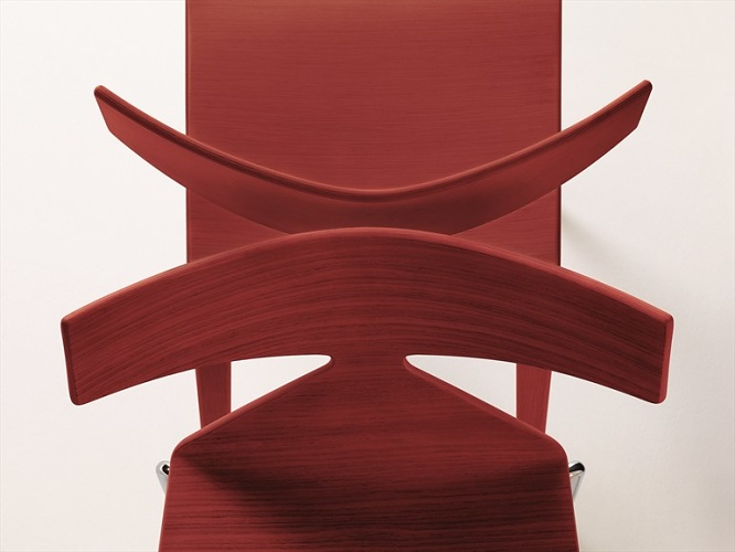 Lievore Altherr Molina Saya Steel And Wood Chair