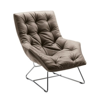 Ludovica and Roberto Palomba Grandtour 897 Armchair With Footstool