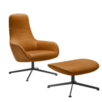 Ludovica and Roberto Palomba Kent 895/896 Armchair With Pouf