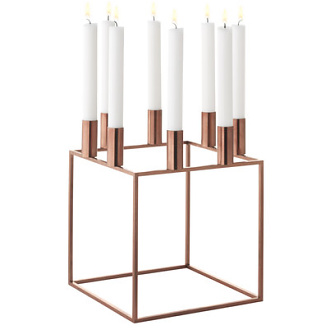 Mogens Lassen Kubus Copper Candleholder