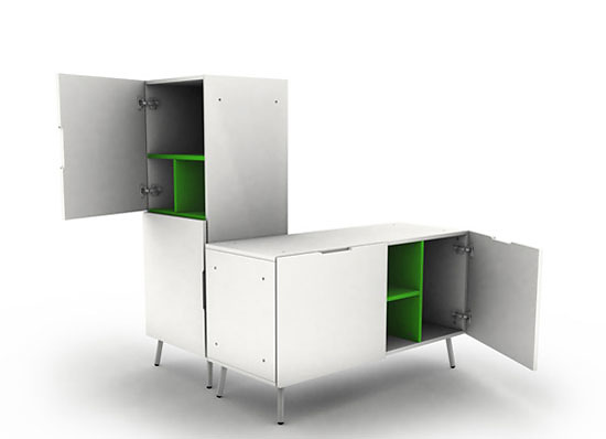 Naughtone Double Storage Unit