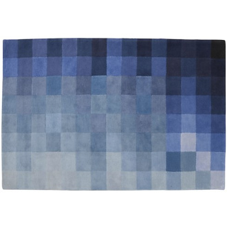 Nick Rennie Chart Blue Rug