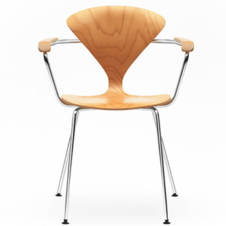 Norman Cherner Metal Base Chair