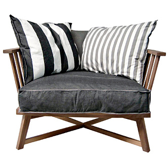 Paola Navone Gray 07 Armchair