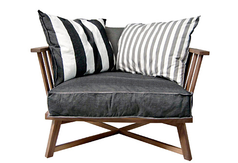 paola navone gray 07 armchair. Black Bedroom Furniture Sets. Home Design Ideas