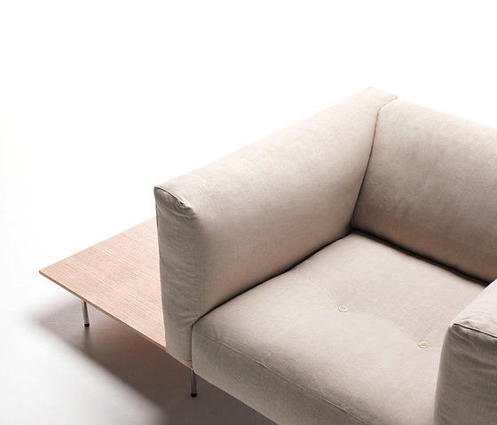 Piero Lissoni Rodwood Armchair With Table
