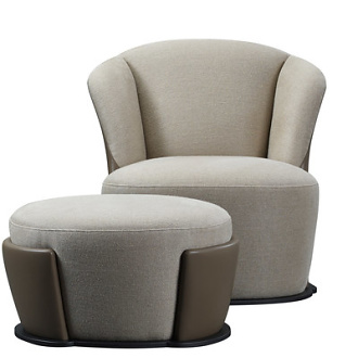 Romeo Sozzi Rosaspina Sofa, Armchair and Pouff