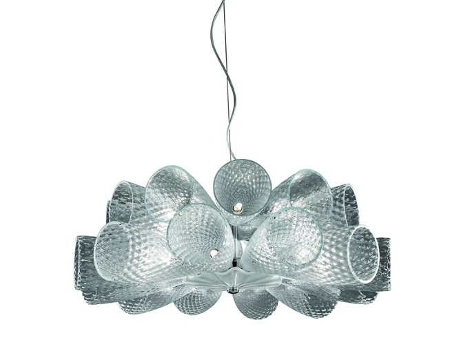 Stefano Traverso Cheers Glass Chandelier
