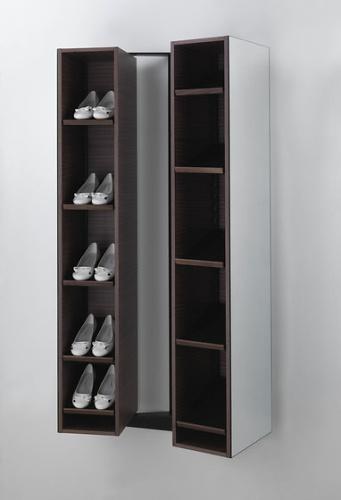 T. Colzani Girilla Shoe Rack & Mirror