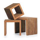 Frank O. Gehry Low Table Set & Block