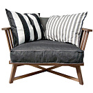 Paola navone st germain armchair for Albany st germain sectional sofa chaise